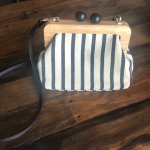 Zara striped crossbody